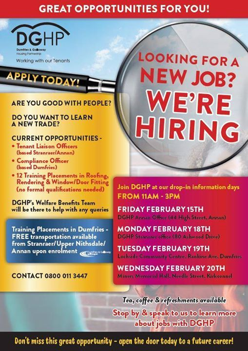 DGHP Job & Training Fair - Dumfries