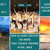 200 Hours Yoga Teacher Training at Goa
