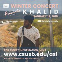 ASI Winter Concert Presents Khalid