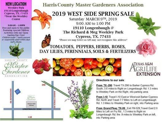 Hcmga Big Spring Sale At Harris County Richard Meg Weekley Park