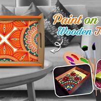 Paint on Wooden Tray  Surat