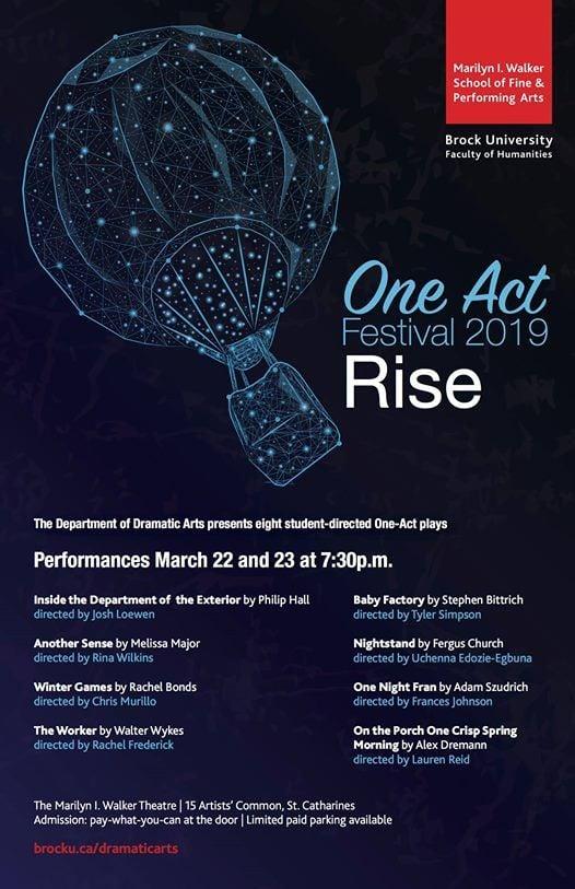 One Act Festival 2019 at Marilyn I  Walker School of Fine