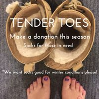 Tender toes By sock donation yoga class