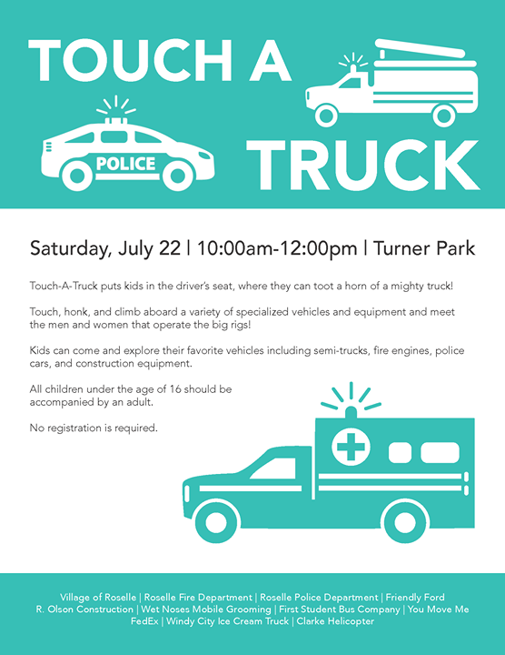 Touch A Truck At Roselle Park District Roselle - Friendly ford roselle car show