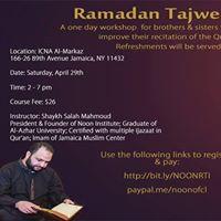 Ramadan Tajweed Intensive with Noon Institute