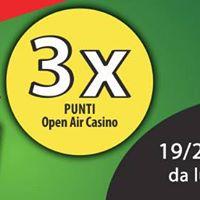 3 x punti al casino allaperto3 x toke v igralnici na prostem