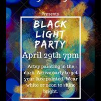 Black Light Party BYOB Paint Event at Artsy Fartsy