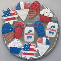 Patriotic Cookie Decorating Party with Telahs Cozy Cookies