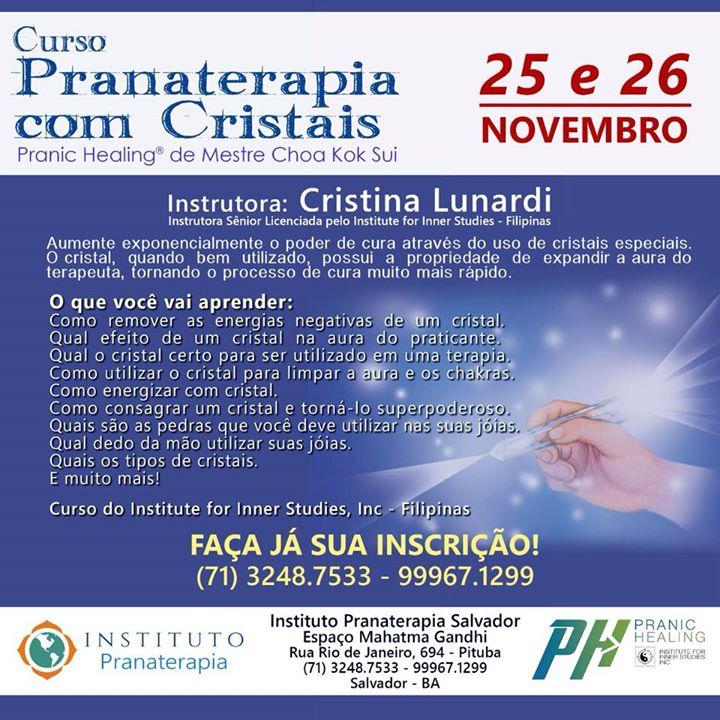 Curso de Pranaterapia com Cristais
