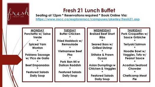 Lunch Buffet March 25th-28th