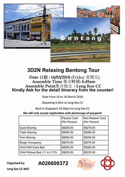 3D2N Relaxing Bentong Tour