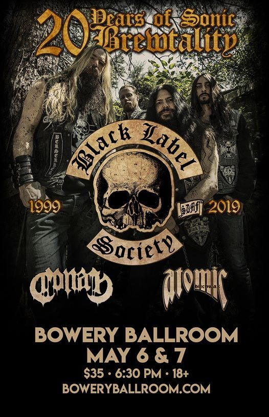 Black Label Society with Conan The Atomic Bitchwax