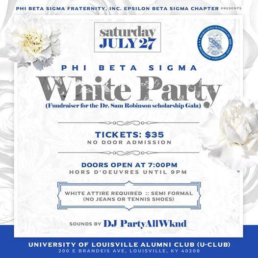 Phi Beta Sigma WHITE PARTY
