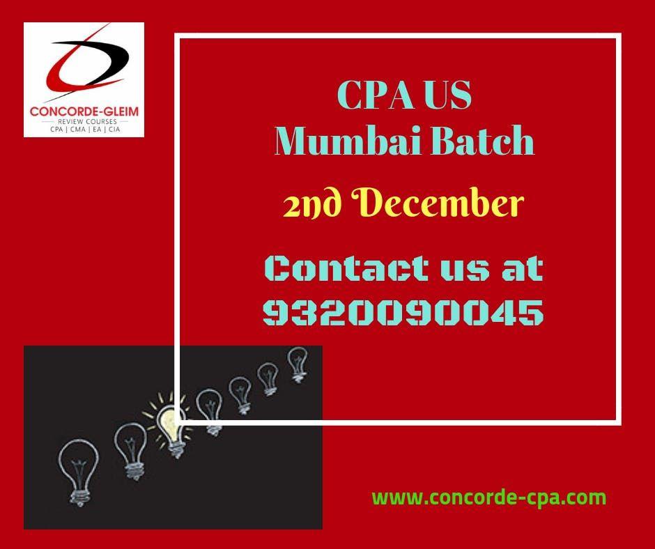 Upcoming CPA US Mumbai Batch on 2nd December
