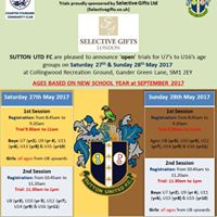 Sutton United Youth Open Trials