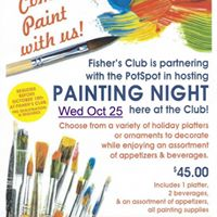 Painting Night at Fishers Club