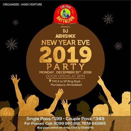 New Year bash 2019 at Fun Food Battalion Ahmedabad
