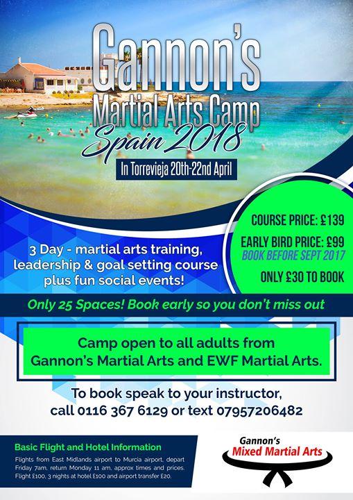 Gannons Camp Spain 2018