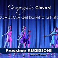 Audizioni Giovane Compagnia accademia del balletto di Pistoia