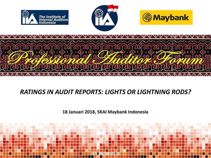 Professional Auditor Forum (PAF) 2018