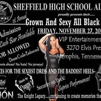 Sheffield Alumni Grown And Sexy All Black Affair