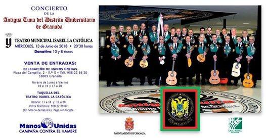 Resultado de imagen de Antigua Tuna del Distrito Universitario de Granada+Manos Unidas 2018
