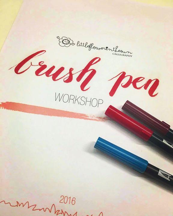 Western calligraphy workshop brush lettering