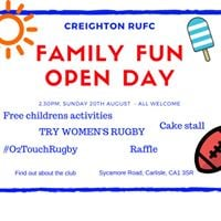 Family fun day including womens rugby taster session