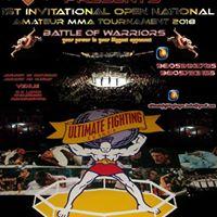1st Invitational Open National Amateur MMA Tournament 2018