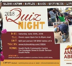 QUIZ NIGHT for Animal Aid Abroad