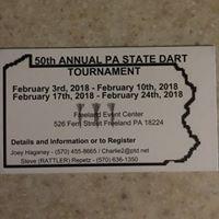 50th Annual PA State Dart Tournament - MENS Qualifier Round
