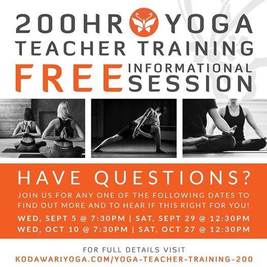 Free Info Session for 200hr Yoga Teacher Training