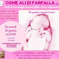 Il massaggio neonatale &quotCome Ali di farfalla&quot