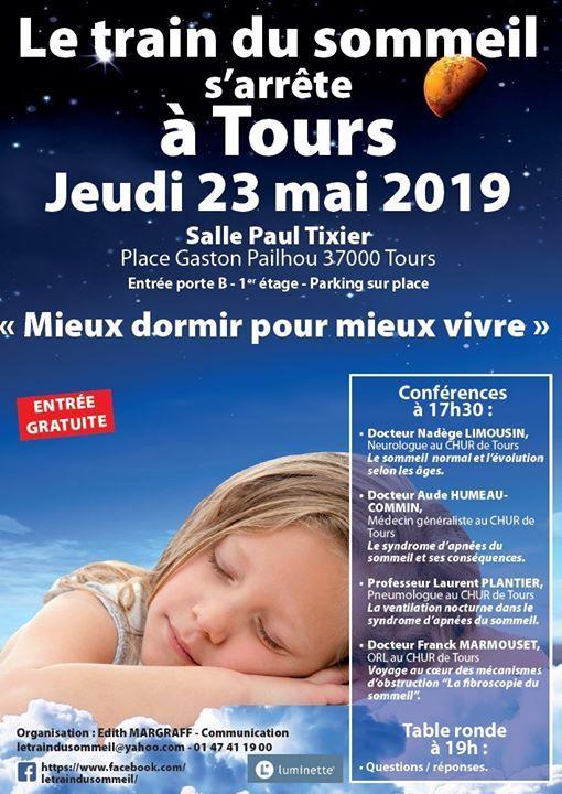 Conférence Troubles du sommeil à Tours at Place Gaston Paillhou ...