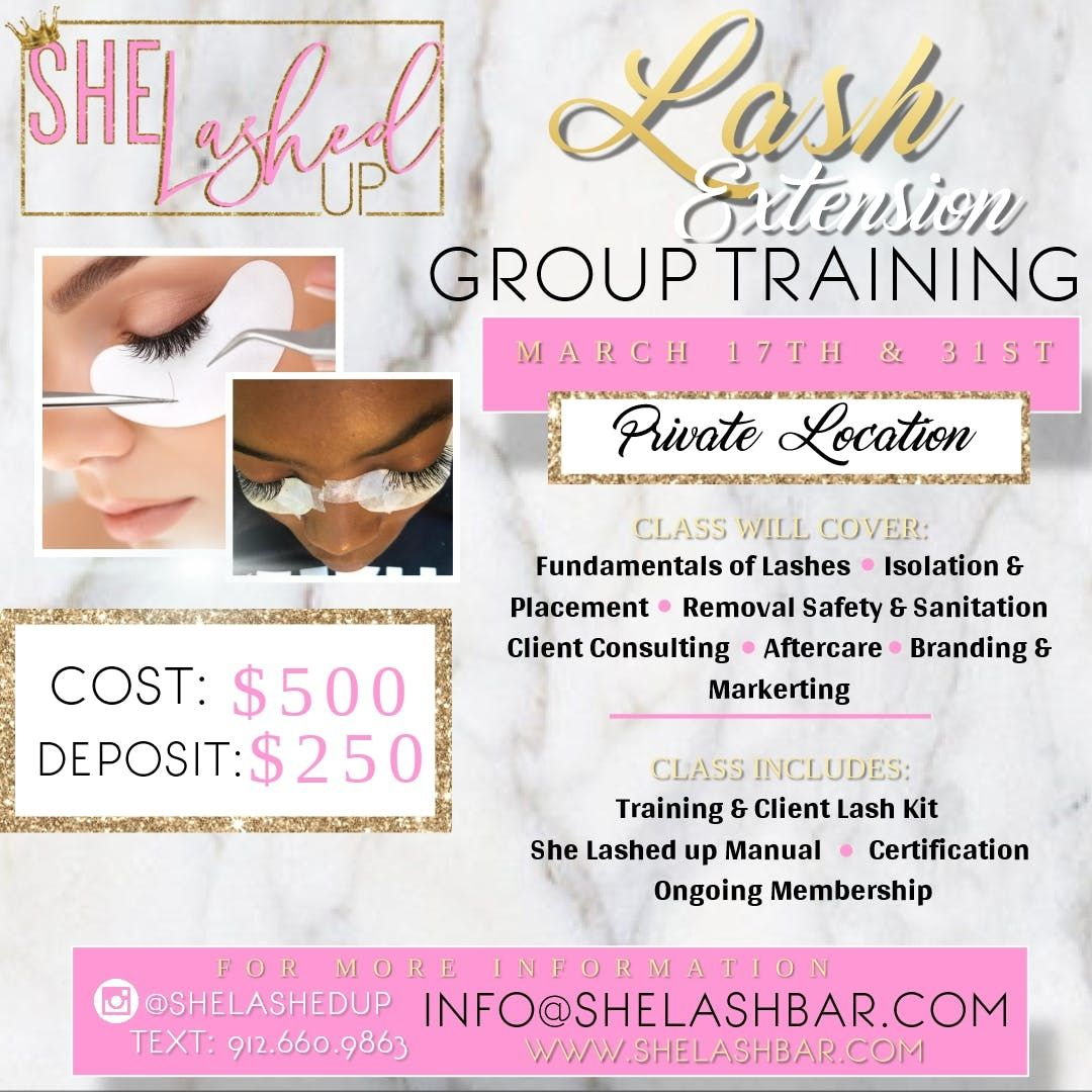 SheLashedUp Lash Extension Group Training