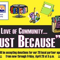 For the Love of Community A &quotJust Because&quot Drive