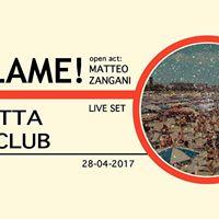 R E C L A M E  open act Matteo Zangani