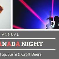 Annual USACanada Night  Laser Tag &amp Sushi