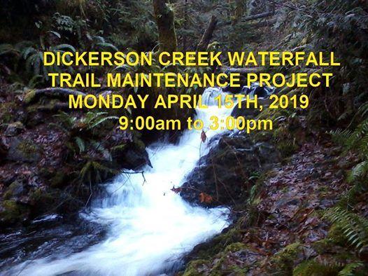 Dickerson Creek Waterfall Trail Maintenance Project 4.15.2019