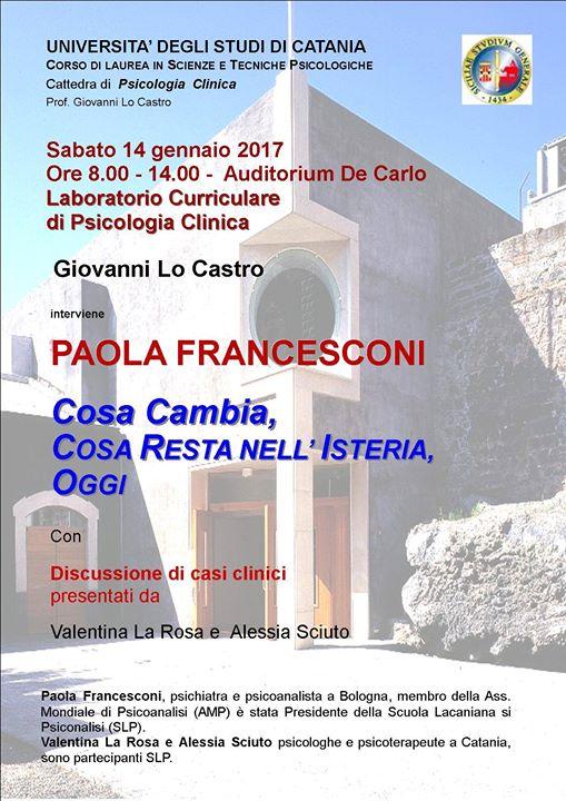 Cosa cambia cosa resta nellisteria oggi - Conferenza di Paola Francesconi