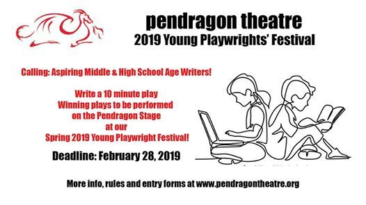 Open Submissions Pendragons 2019 Young Playwrights Contest