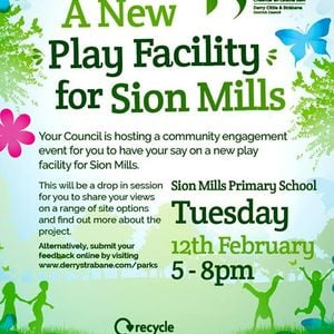 Sion Mills Play Park Engagement Event