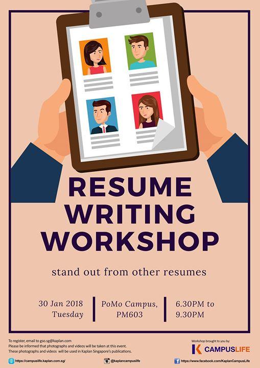 resume writing workshop at kaplan career development series singapore