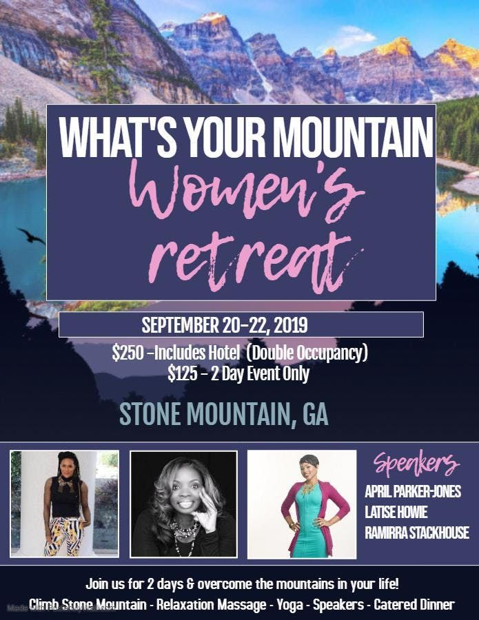 Whats Your Mountain Womens Empowerment and Self Care Workshop