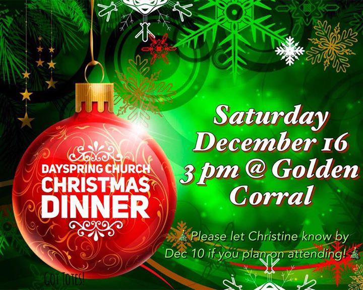 dayspring church christmas dinner at golden corral harrisonburg