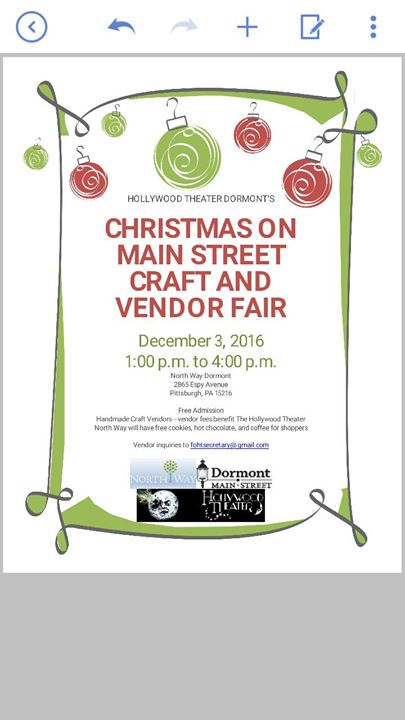 Christmas on main street craft and vendor fair at north for Harrisburg christmas craft show