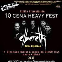 Elbereth en fiesta presentacin 10 CENA HEAVY Fest Pucela