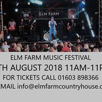 Elm Farm Annual Music Festival 2018