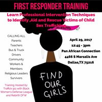 First Responder Training  Find Our Girls &amp End Sex Trafficking