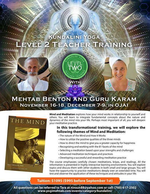 Mind and Meditation A Level 2 Kundalini Yoga Training
